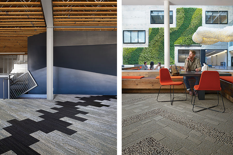 Interface nature-based flooring distributed by KBAC