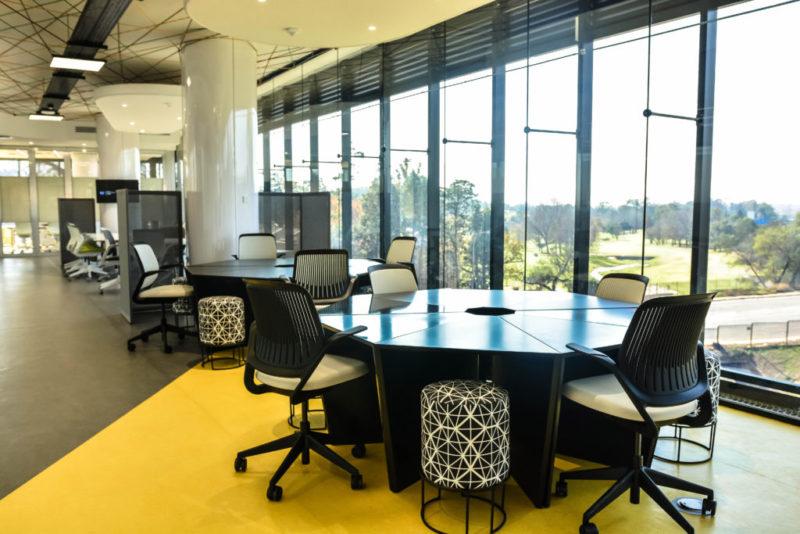Interface carpet tiles, KBAC Flooring, interior designers paragon interface, interface heuga, GE Africa Innovation Centre