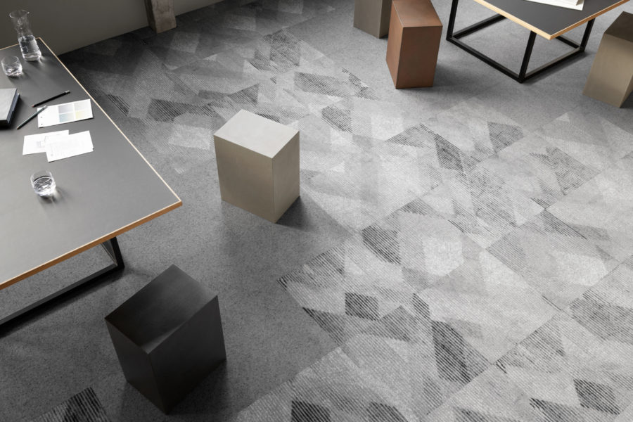 Flexibility of new Ege tiles and planks collection ideal for today's office
