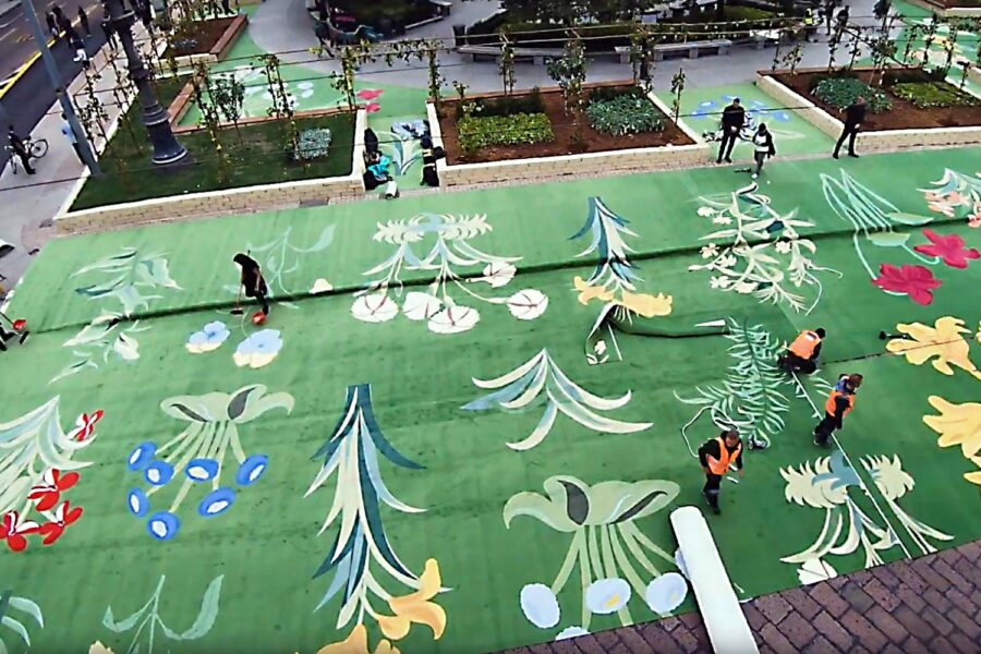 Special EGE carpet covered an entire Italian piazza